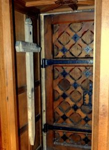 Inside the doorway with Harry's second battlefield cross (Brian Belton)