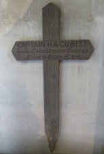 Henry's battlefield cross, returned to hang at St Barnabas Church