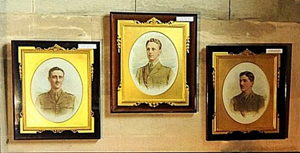 Photographs of Henry's sons by Vandyck, now hanging in the Cubitt Chapel (Brian Belton)