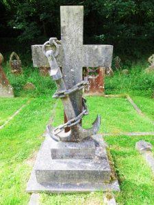 Charles Frederick Baker's grave in St Barnabas churchyard