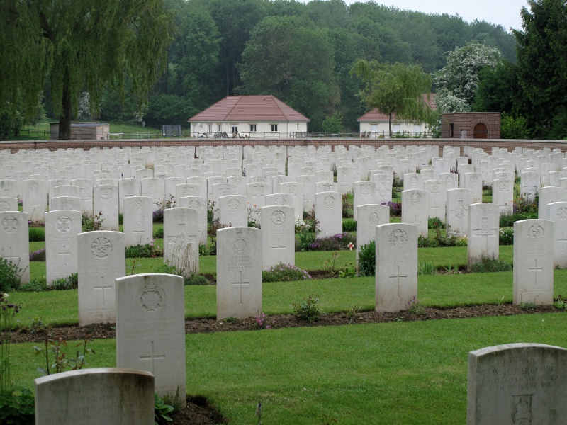 Carnoy Military Cemetery, where Henry Archibald Cubitt is buried, reference P. 7 (The War Graves Photographic Project - TWGPP)