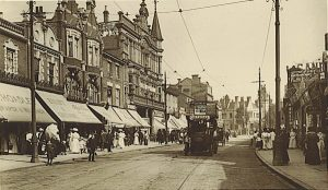 Ealing Broadway in 1907, about the time when the Catons first lived there and where Harry Robert later had his dental practice