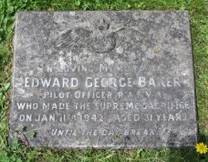Edward's memorial plaque in St Barnabas Churchyard