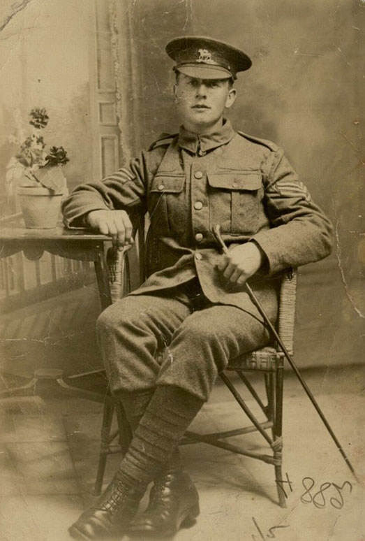 Serjeant Frank Woodman (photograph by kind permission of his grandchildren, whose copyright it is)