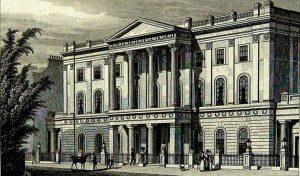 The London Institution, engraving by William Deeble, Wikimedia