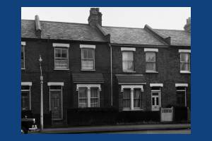 Nos 84 and 82 Nelson Grove Road in 1963 (part of No 86 where the Gales lived is to the left of thepicture (R W