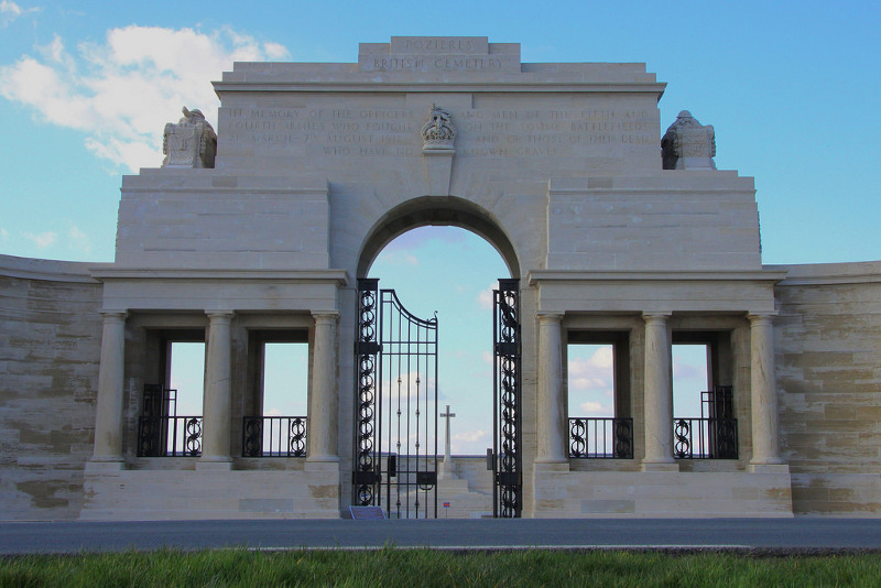 The Pozieres Memorial in France, north-east of Albert (Andy Bailey)