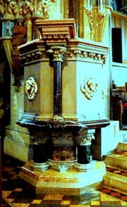The elaborate pulpit (Brian Belton)