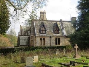 St Barnabas School, viewed across the churchyard
