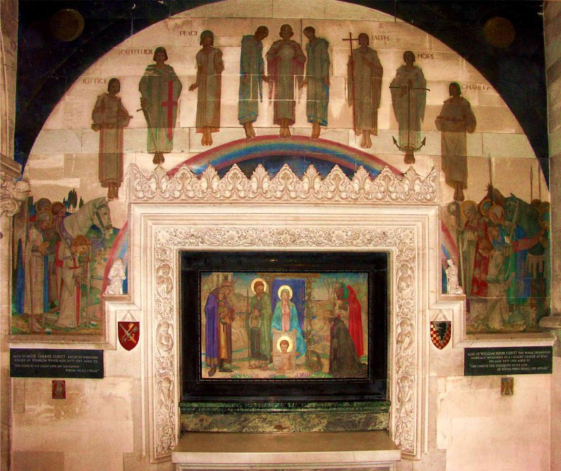 rampton's amazing mural in the Cubitt Chapel at St Barnabas (photograph by Walter