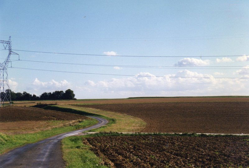 "The ""sunken road"" at Ginchy where Harry was killed on 15th September 1916. This photograph was taken in 1997 by his nephew Sir Hugh Cubitt, whose copyright it is."