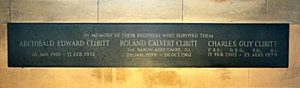 Memorial in the Cubitt Chapel to the three surviving sons of the 2nd Lord and Lady Ashcombe (Brian Belton)
