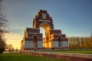 The Thiepval Memorial designed by Sir Edwin Lutyens, photograph courtesy