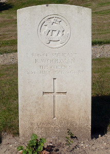 Frank's grave, ref I.F.1 (The War Graves Photographic Project - TWGPP)