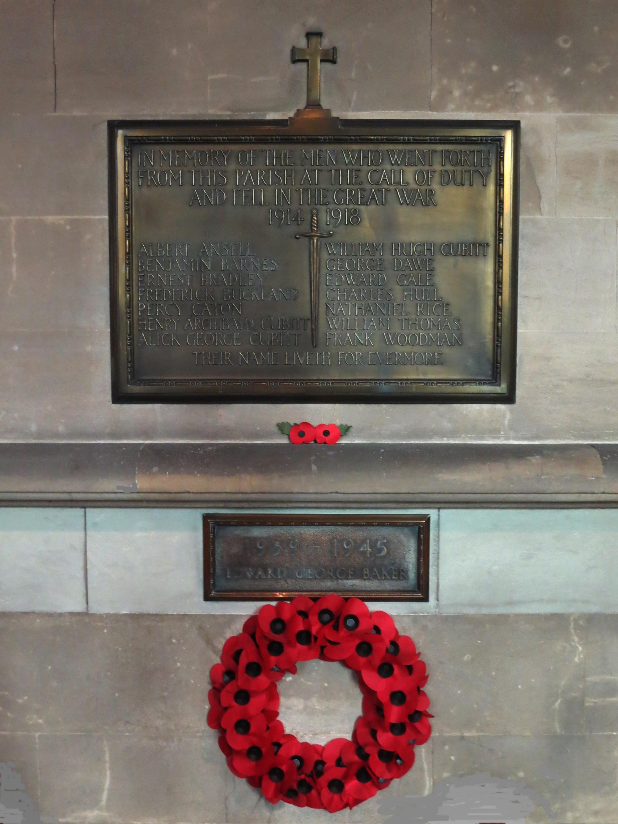 The Nave War Memorial, St Barnabas Church, Ranmore Common