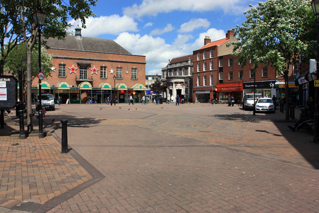 Market Place, Gainsborough today (Geograph, copyright