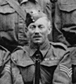 Walter Hitchcock in Home Guard picture of 1940s, positioned in the centre of the picture with serjeant's