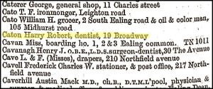 Harry Robert dentist directory Kelly's 1926 No 3 GB0838-00133