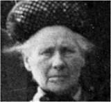 Sarah Louisa Booth in old age, photograph courtesy of Nigel Parker, a family