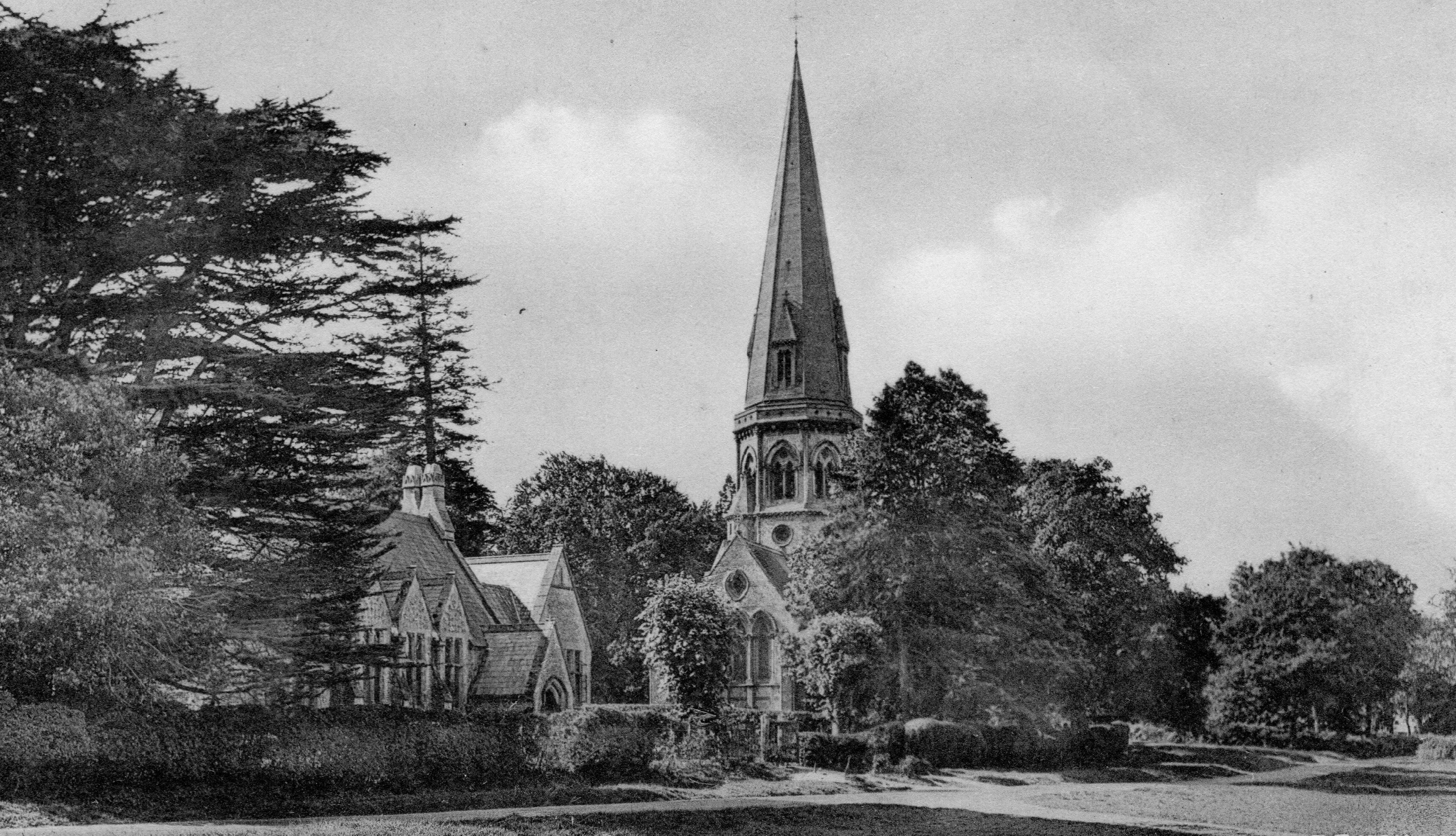 St Barnabas School, to which William Thomas and all his siblings went, Friths, from the postcard collection of Alison Newton