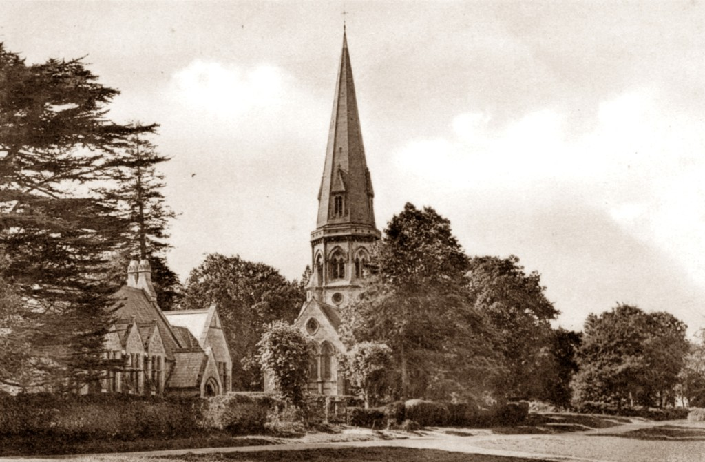 St Barnabas School, to which William Thomas and all his siblings went, Friths (date), from the postcard collection of