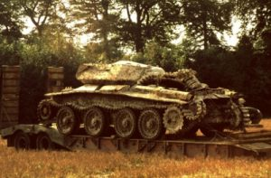 """The """"Covenanter"""" tank after excavation in 1977 (Ranmore Archive)"""