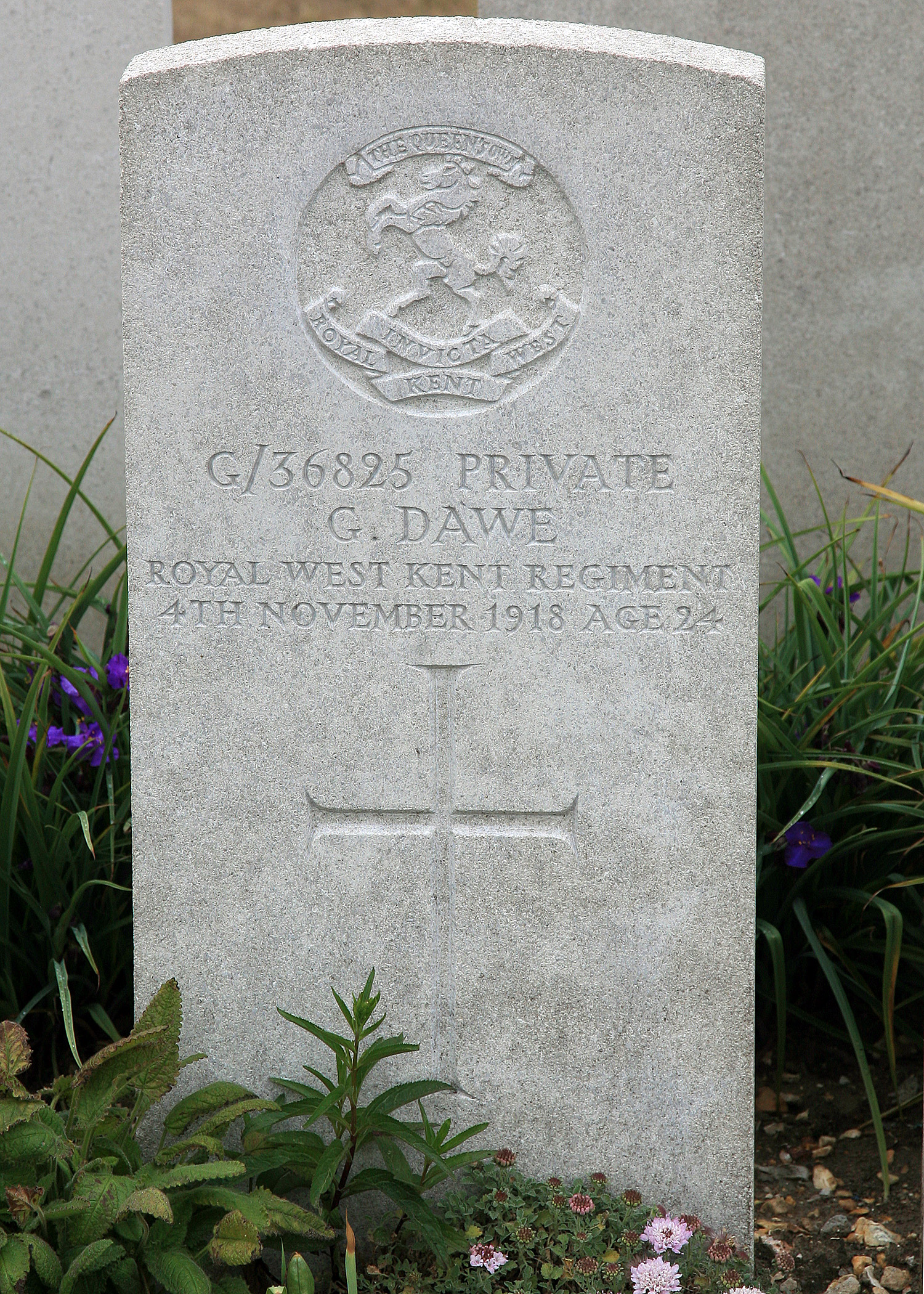 George Dawe's grave, reference, The Great War Photographic