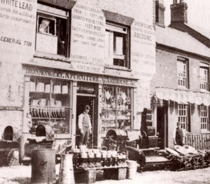 The sort of Ironmonger's shop in Hailsham High Street, where Maurice Puttock's father would have worked (image courtesy of David Simkin of SussexPhotoHistory. The original photograph was from the collection of Aylwin Guilmant)
