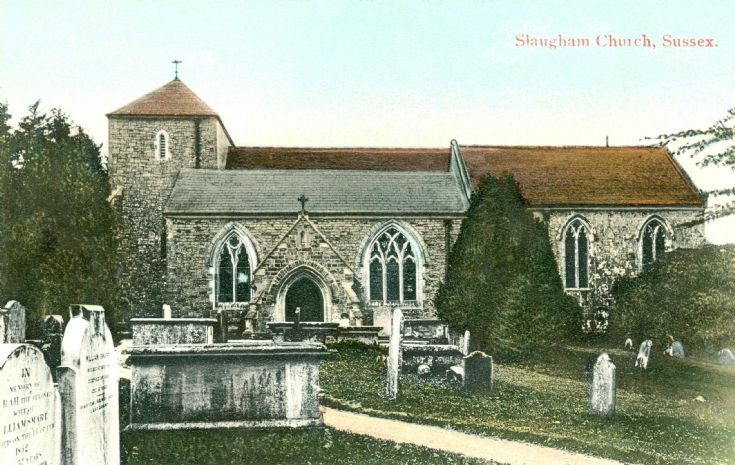 St Mary's Slaugham in 1915, Slaugham Archives, Barry Ray