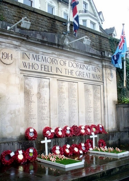 The South Street Memorial in Dorking, sooner as Remembrance Sunday, Geograph, Colin Smith ... phrase