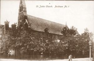 St Jude's Church, Peckham, now demolished, creditt....