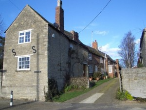 Cottages typical of the largely unspoilt village of Tansor today, built of limestone and old brick. Geograph, Nigel Stickells
