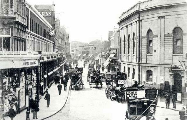 Rye Lane, Peckham about 1905, very close to Ellery Street where the Barnes