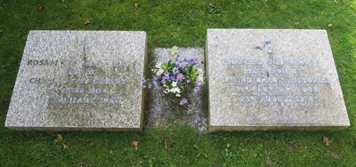 The grave at St Barnabas Ranmore of the Hon. Charles Guy and Rosamond Cubitt
