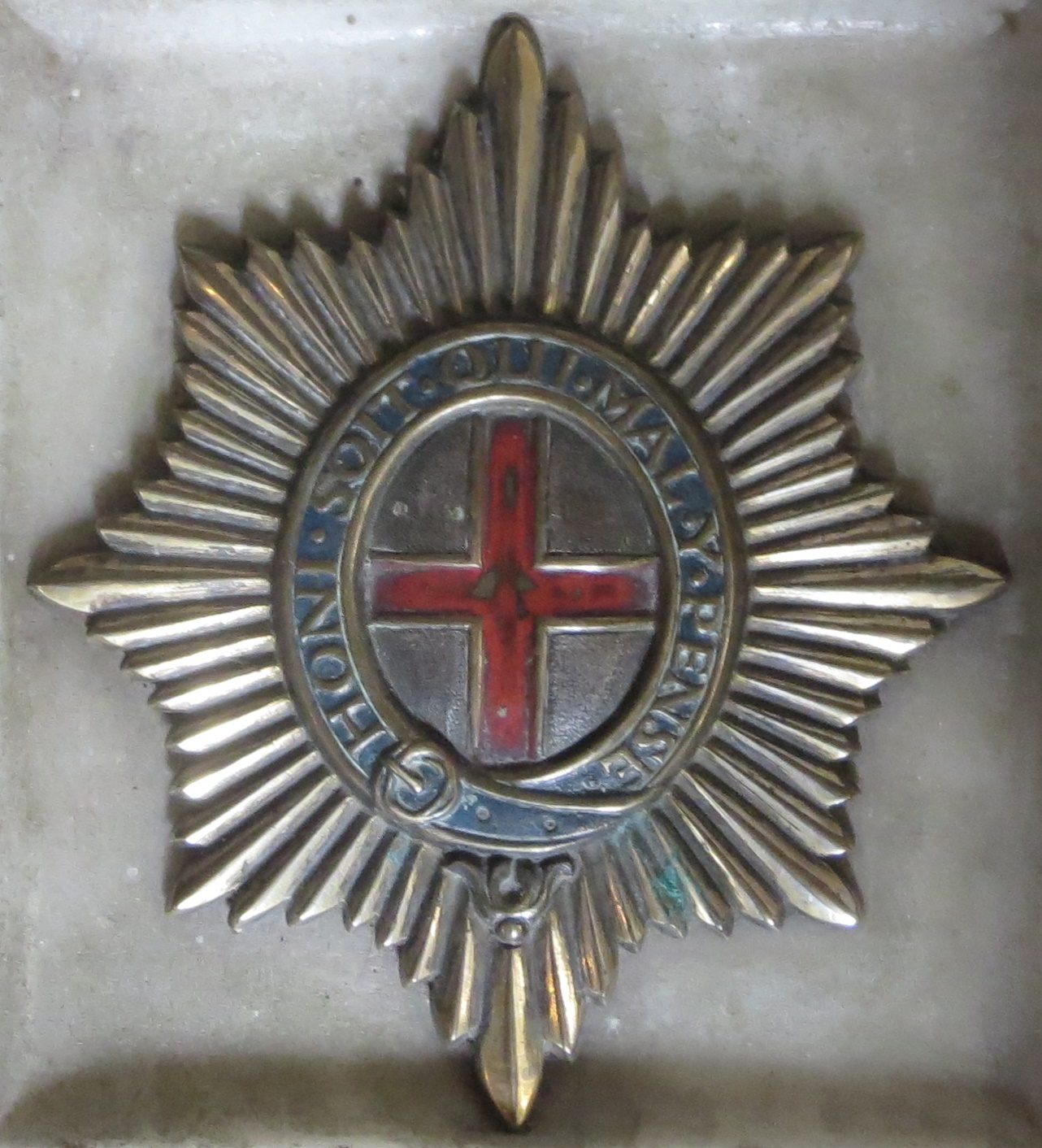 The Coldstream badge in the Cubitt Chapel, St Barnabas,
