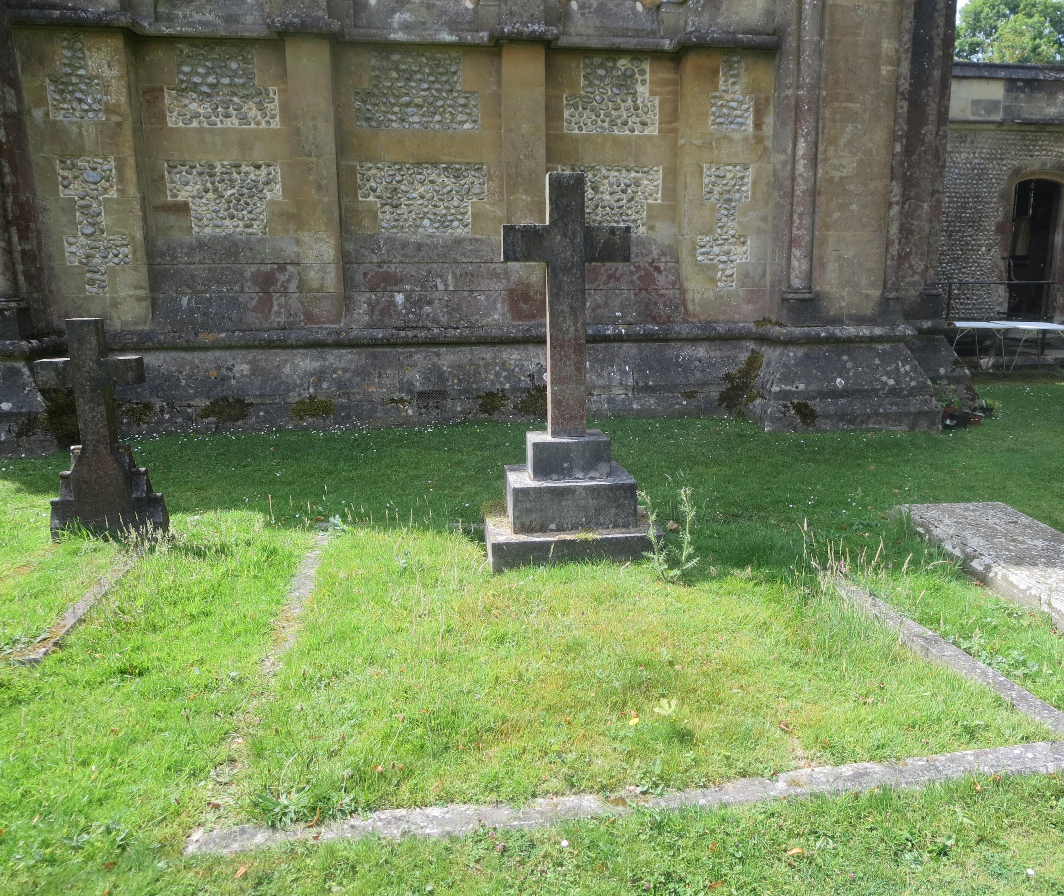 The monument at St Barnabas to George and Laura Cubitt
