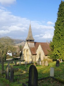 Holy Trinity Church, Westcott linked to so many of Frank Woodman's family were. Photo courtesy of Stefan Czapski, Geograph