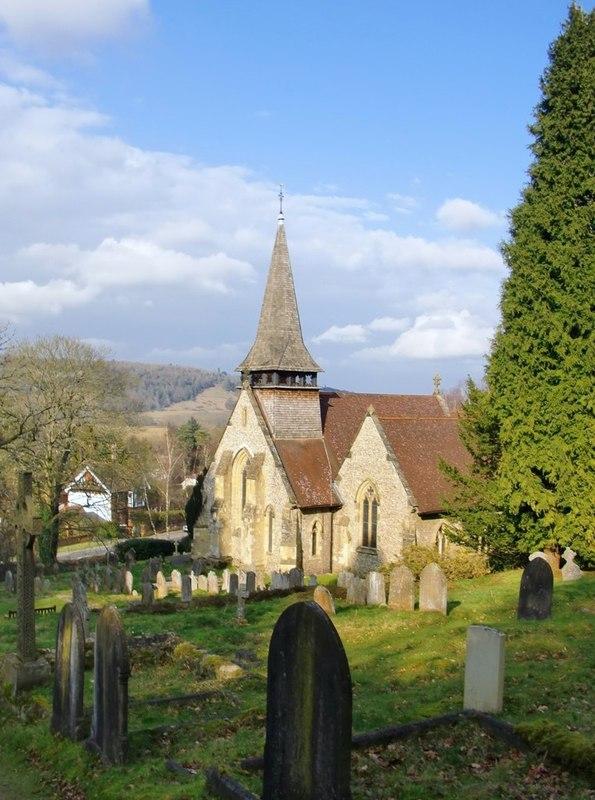 Holy Trinity Church, Westcott linked to so many of Frank Woodman's family were. Photo courtesy of Stefan Czapski, Geograph