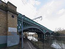 Cubitt's cast iron bridge at Peterborough