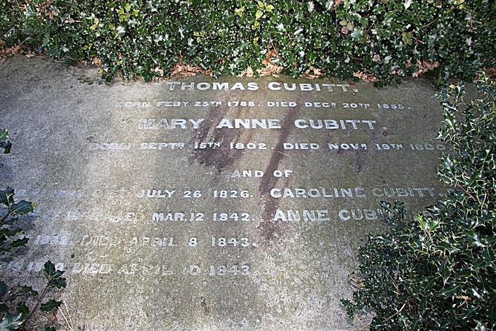 Close up of the Cubitt monument at Norwood (credit.....)