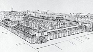 Drawing of Covent Garden Market building / credit....