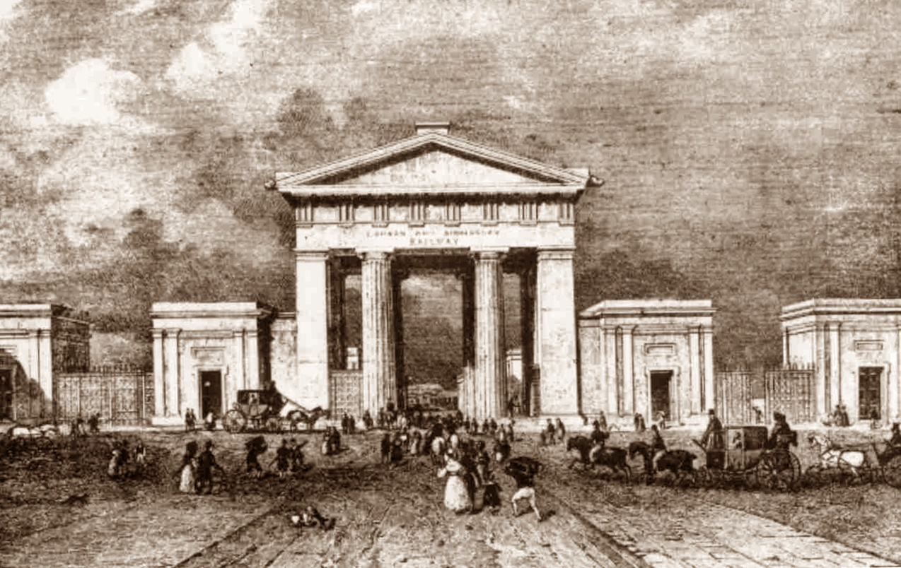Entrance to London and Birmingham Railway c 1851 (the