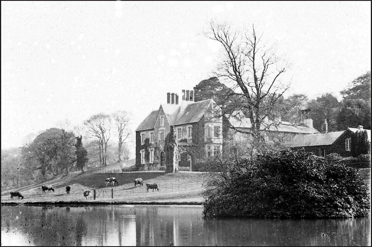 Fallapit House and lake about 1900, credit....