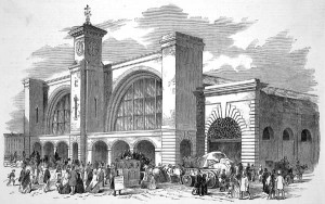 Kings Cross station in 1852