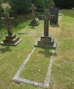 Lucy Cubitt's grave, with her niece Margaret Bowring to the left.