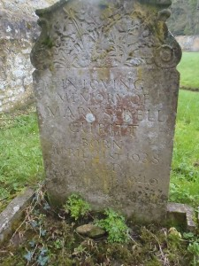 The grave of Mary Sibell Cubitt aged just under two. crdit
