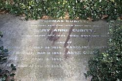 The Cubitt monument at Norwood, plot 649, square 48 (photograph courtesy Julia&Keld, Find a Grave). The two nearest inscriptions are to Fanny and Arthur.