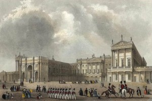 An engraving of Buckingham Palace in ... before Cubitt built the wellknown East