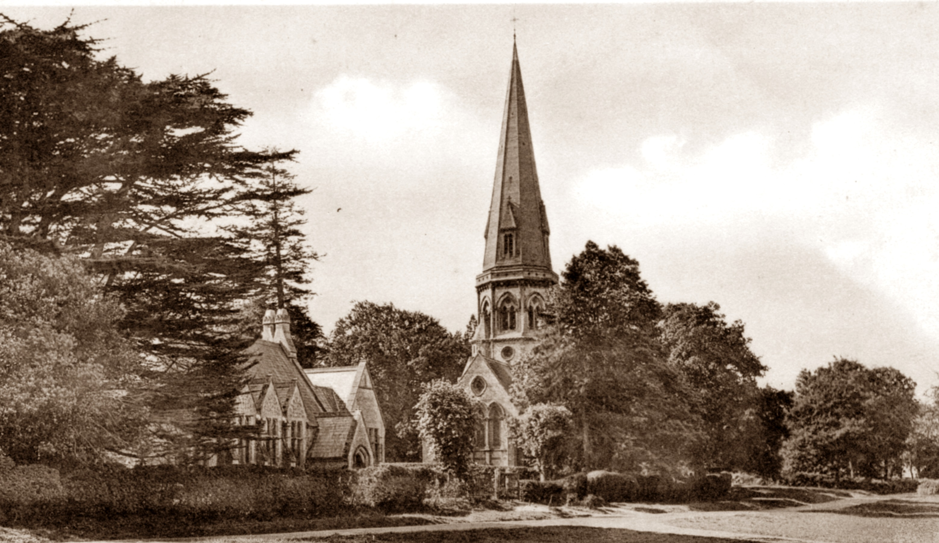 t Barnabas School nestling alongside the Church in 1906, Friths postcard from the collection of Alison