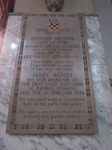 The memorial to Canon and Mary Agnes Chichester